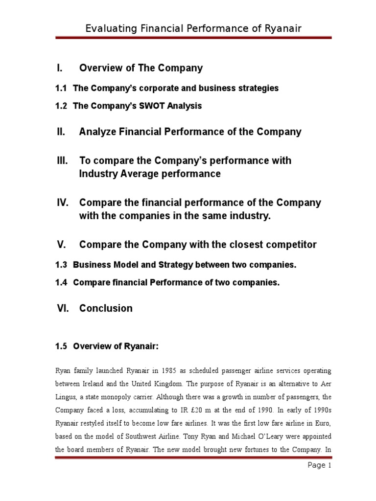 ryanair company financial analysis report Buy now for $125 usd (single user price) ryanair holdings plc ry4c financial and strategic swot analysis review provides you an indepth strategic swot analysis of the company's businesses and operations.