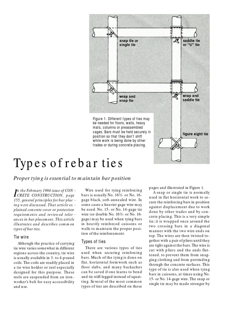 Rebar Tie Wire Methods - DocShare.tips