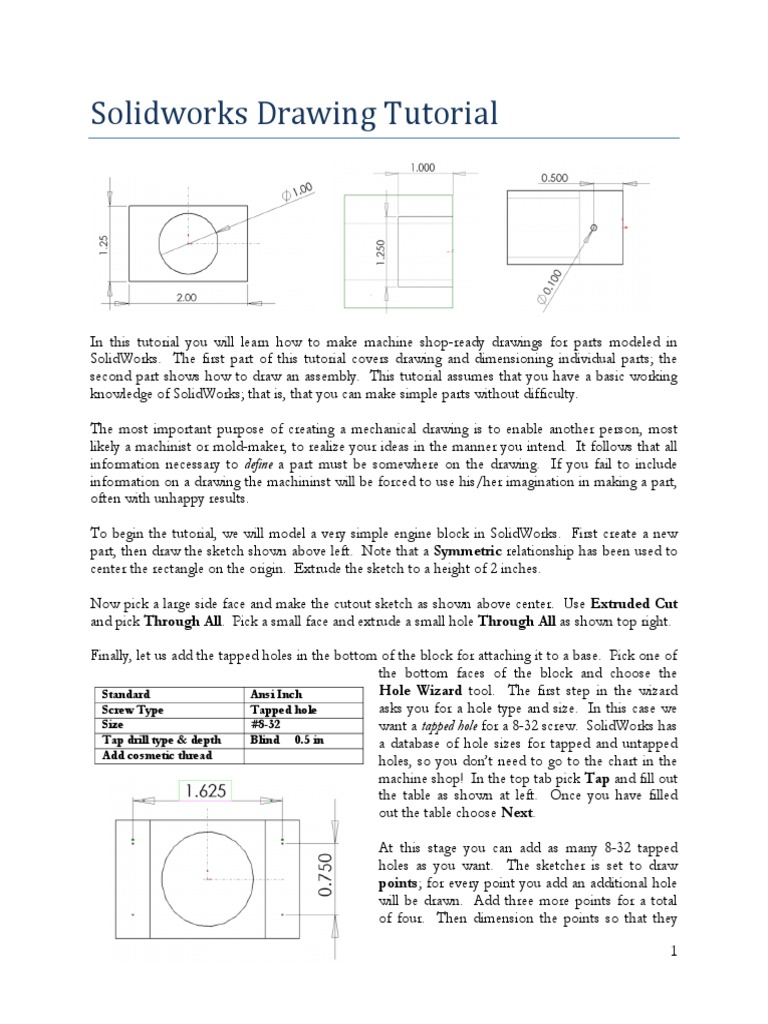 Solidworks drawing tutorial for Solidworks drawing template tutorial