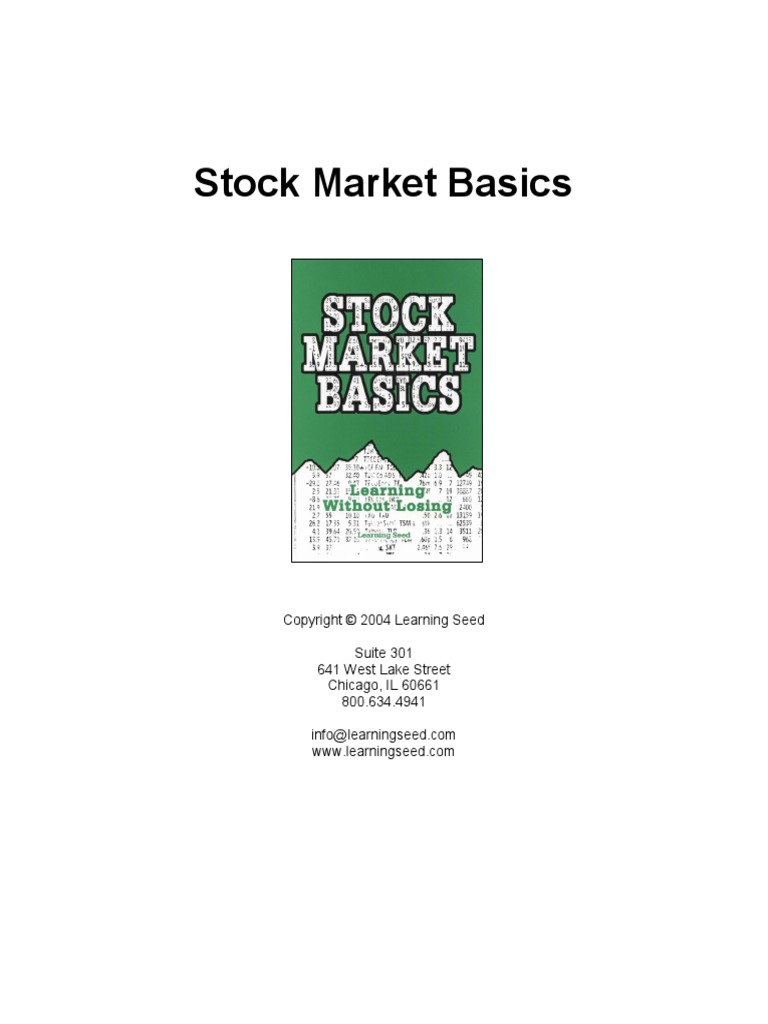 Stock Market Basics Guide