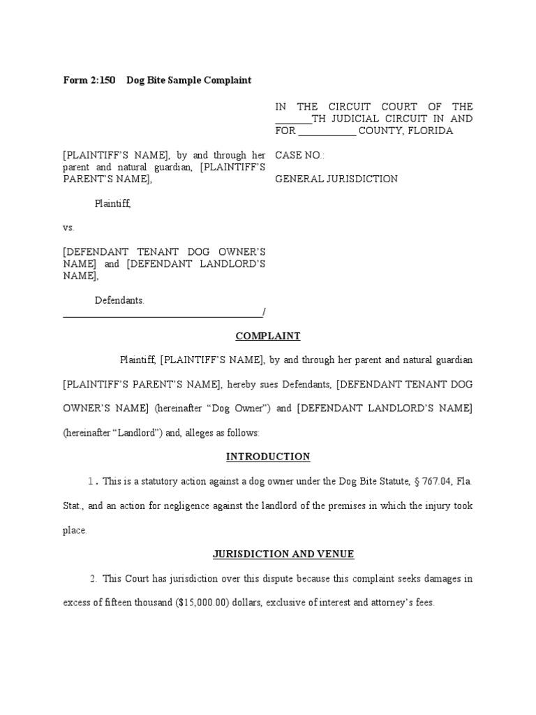 letter of complaint format