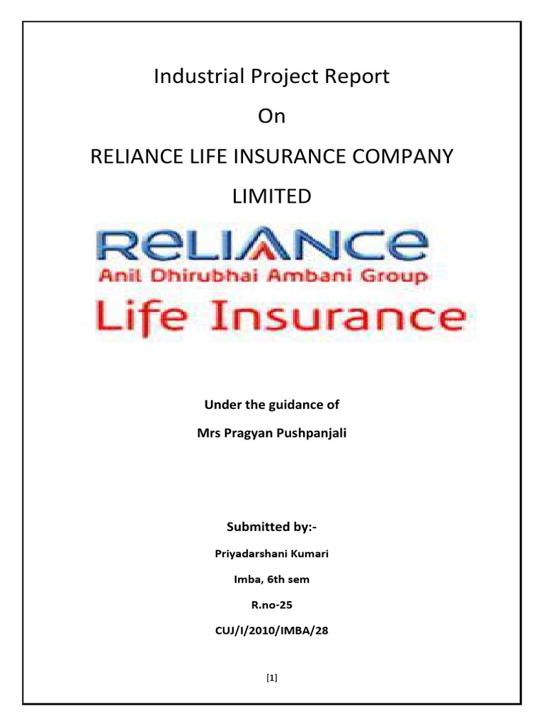 tows matrix of reliance life insurance company