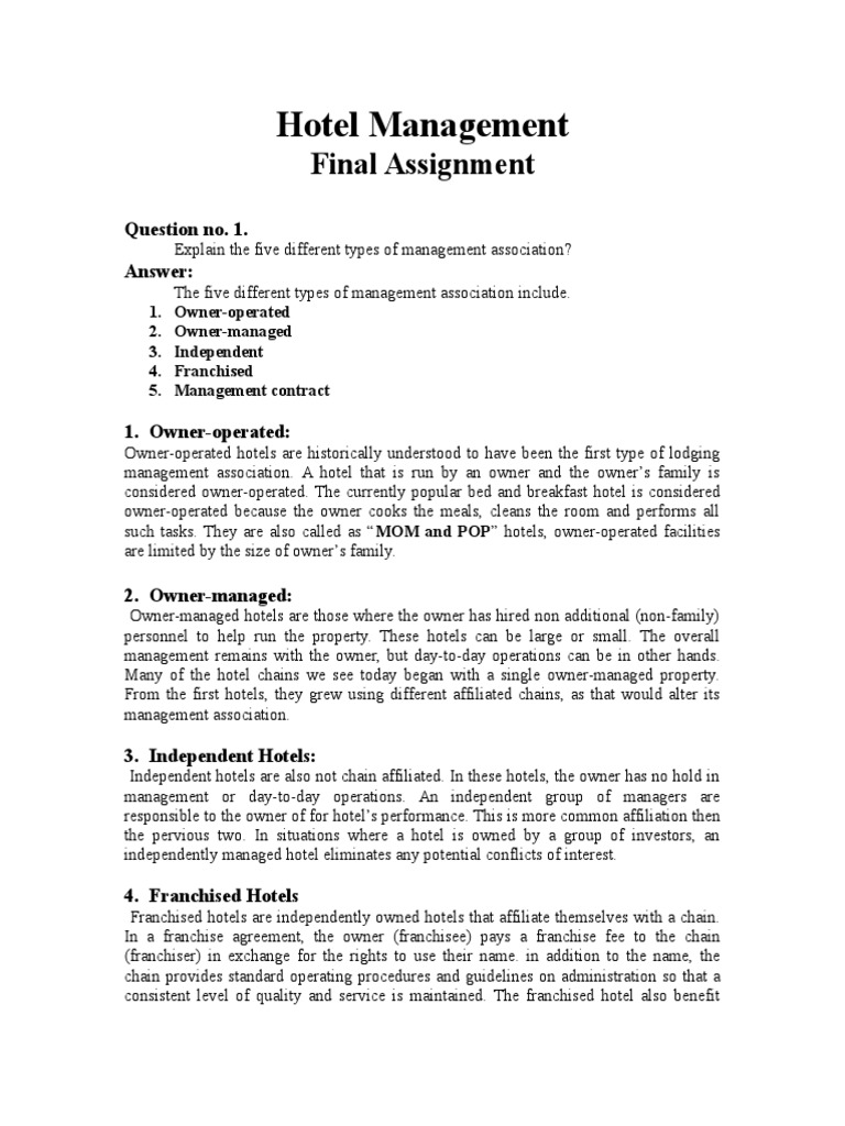 Download 5star Hotel Business Planmg321 Major Assignment Docshare
