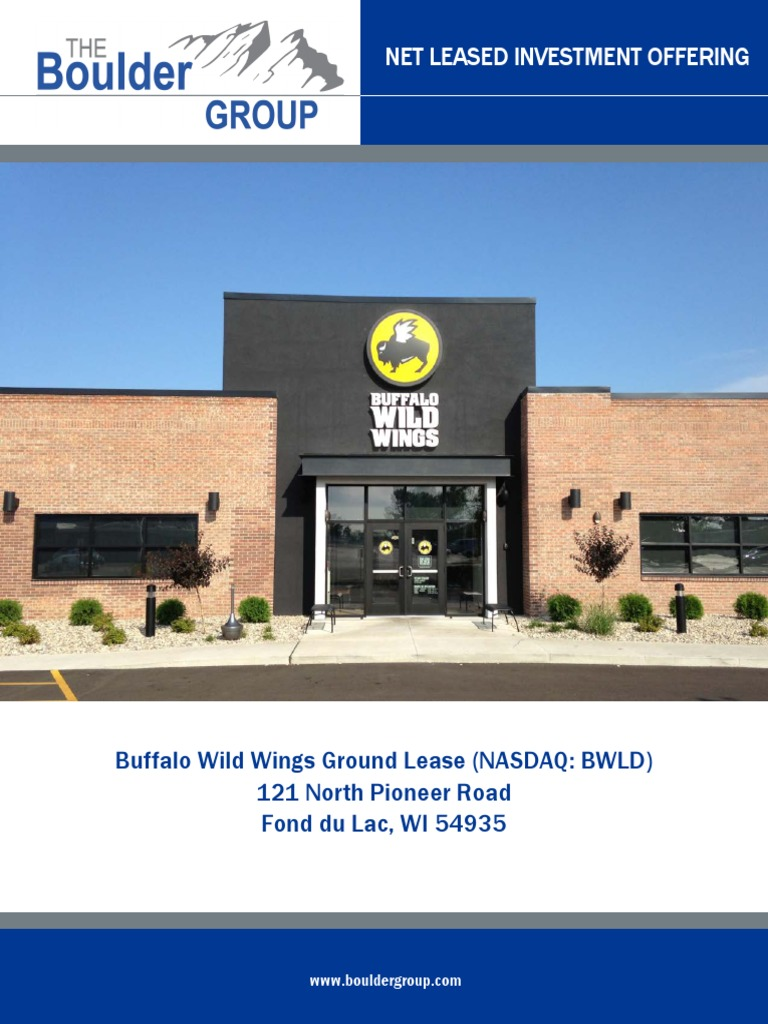 Download Triple Net Ground Lease Buffalo Wild Wings For Sale The