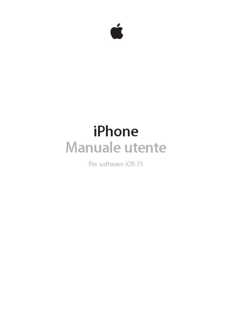 Manuale utente iphone 5