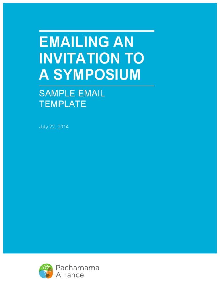 Sample symposium email invitation docshare stopboris Gallery