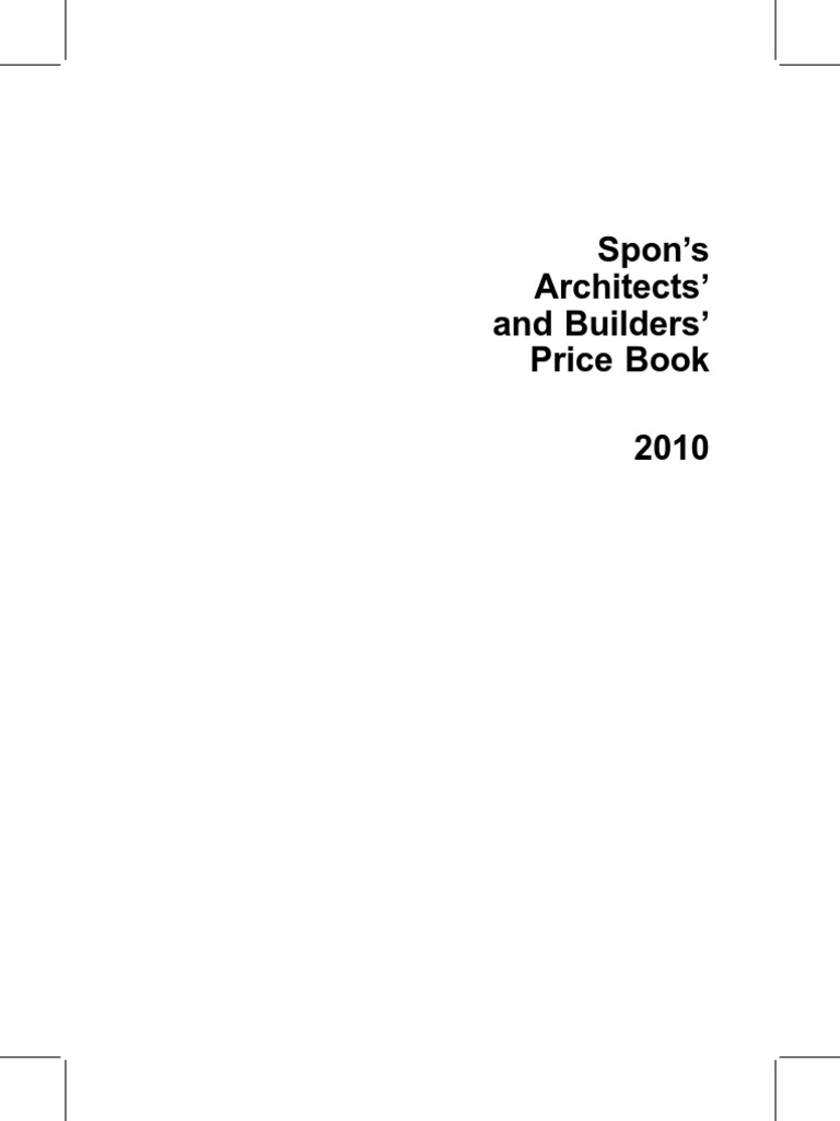 Spons architects and builders price book 2010 docshare fandeluxe Choice Image