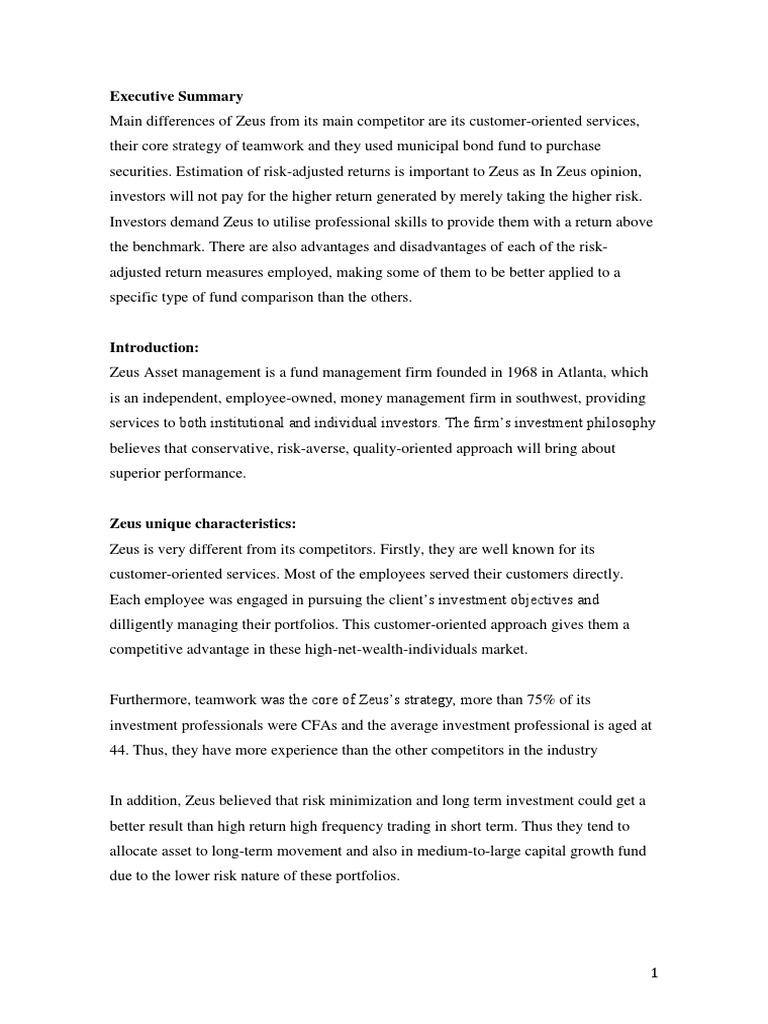 238720918 zeus asset management case week Free essay: zeus was the son of cronus and rhea, an earlier race of ruling gods  called titans cronus  238720918 zeus asset management case week 5.