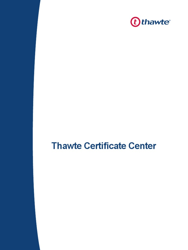 Download Installation Guide Of Thawte Code Signing Certificate From