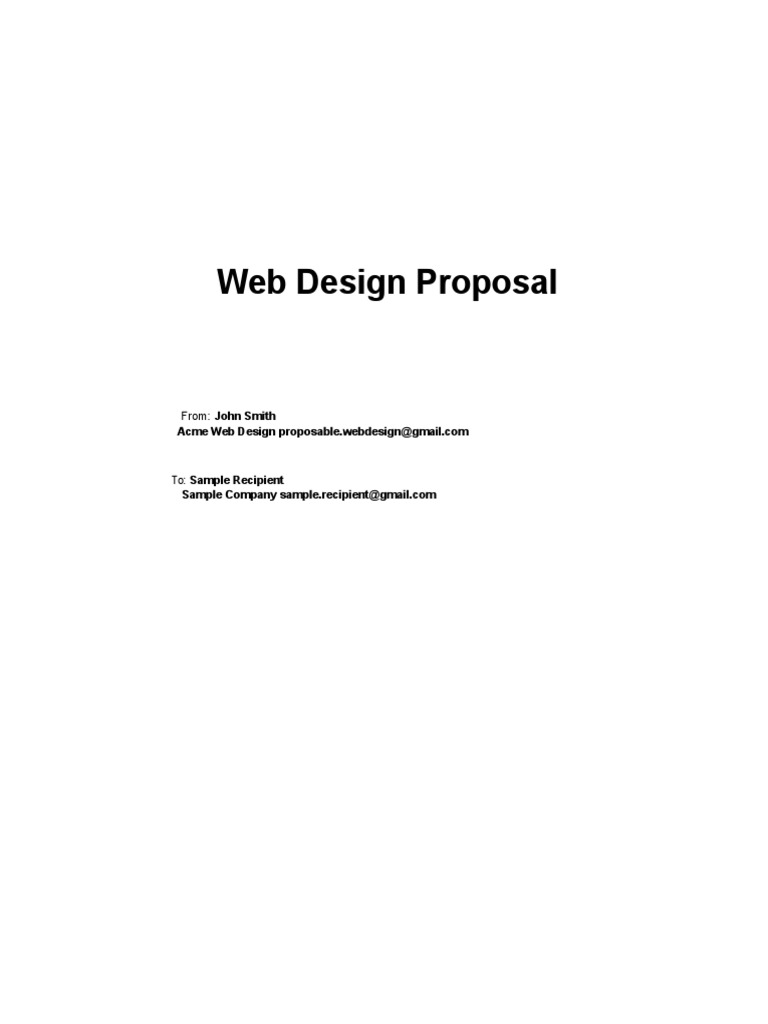 Download Web Design Sample Proposal Template Docshare Tips