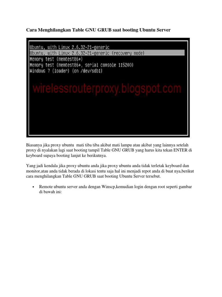 Download Cara Menghilangkan Table GNU GRUB Saat Booting