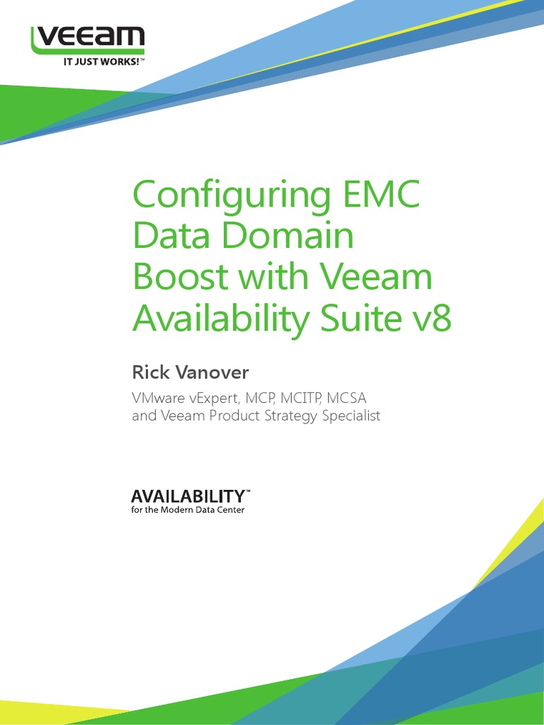 Configuring EMC Data Domain Boost with Veeam availability