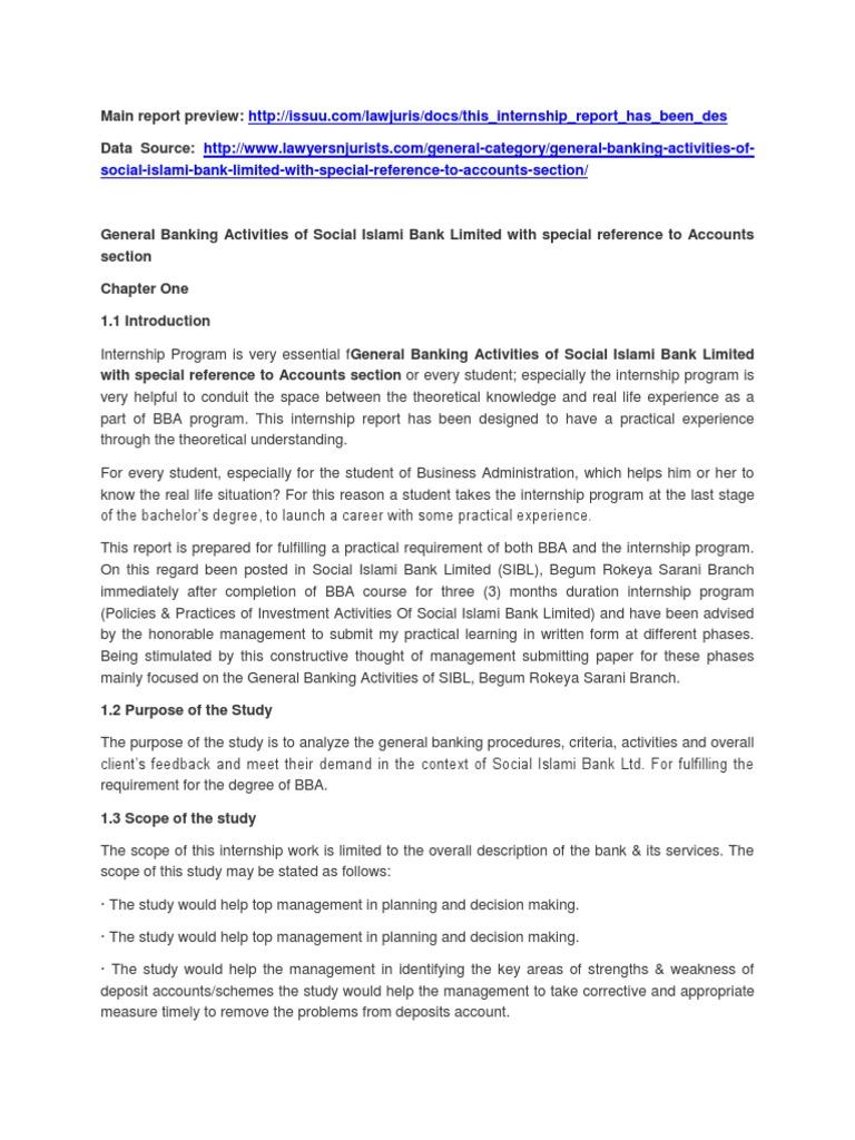 internship report on general banking of uttara bank