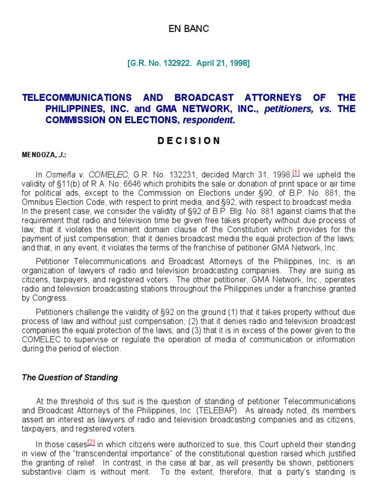 flores vs comelec case digest Mercado v manzano case digest in a subsequent resolution of the comelec en banc oposa vs factoran case digest.