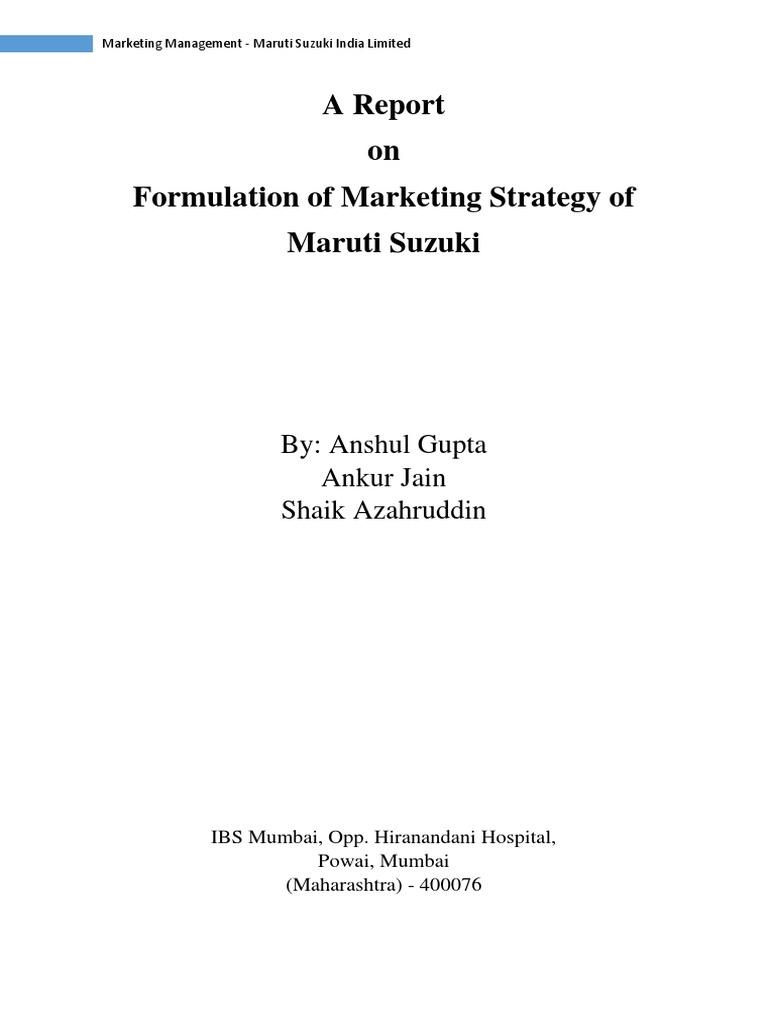 integrated marketing communication plan on maruti suzuki Vidit narang loyalty program manager at maruti suzuki india limited location new delhi area, india industry marketing and advertising.
