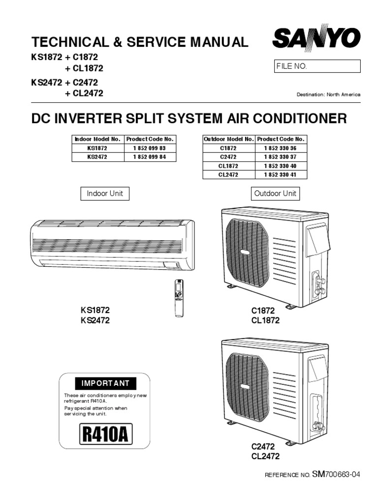 Sanyo Split System Air Conditioner Manual One Word Quickstart Mini Wiring Diagram Ac And Schematics Replacement Parts Multi Units