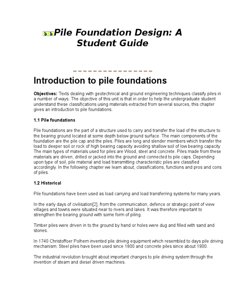 Download Pile Foundation Design - DocShare tips
