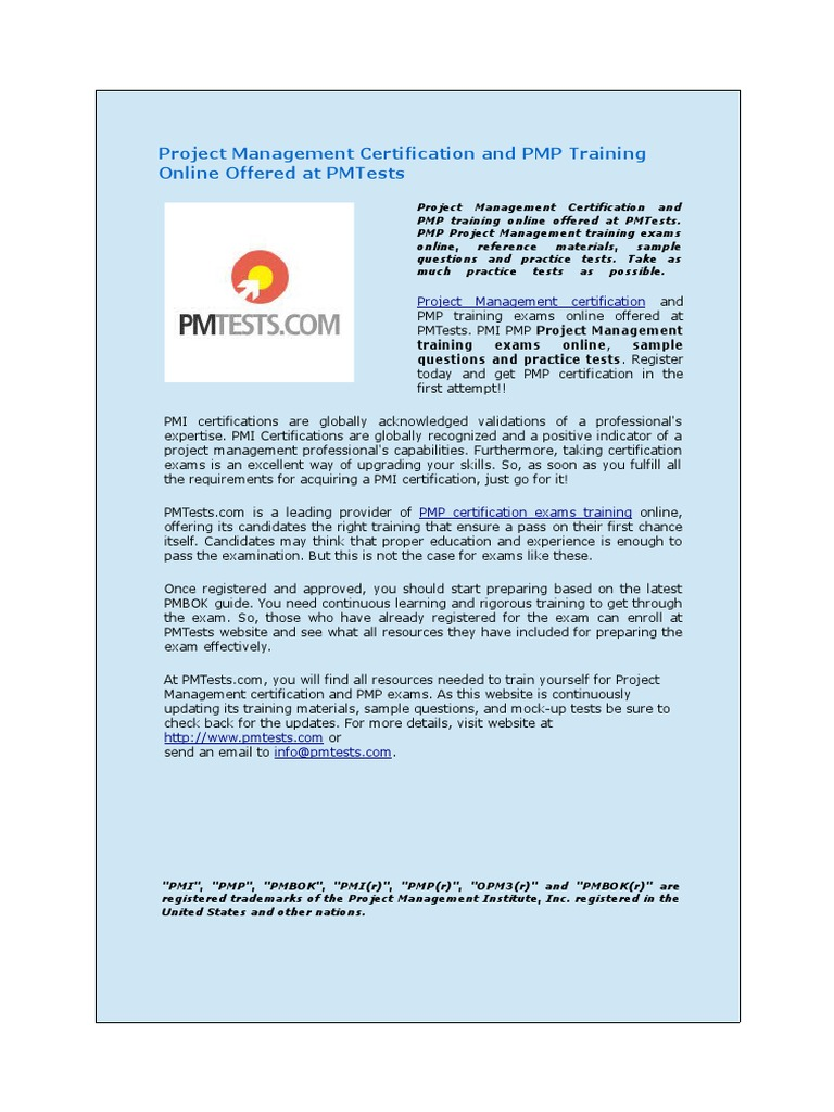 Download Faqs On Pmp Certification And Project Management Competency