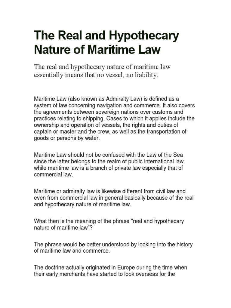 thesis on law of the sea