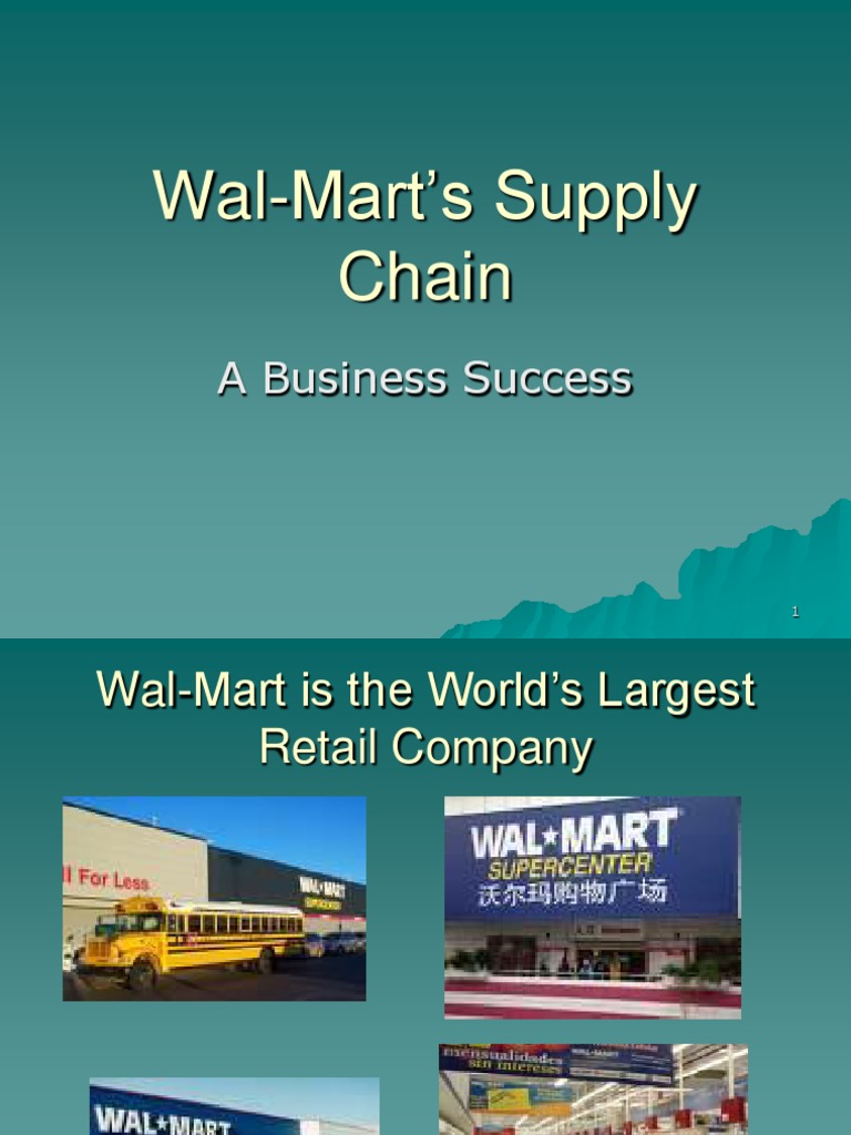 wall mart supply chain