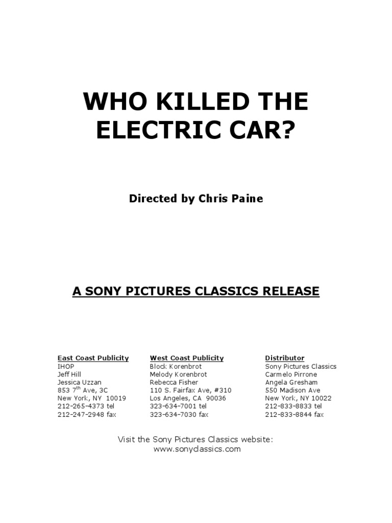 Download Who Killed the Electric Car Activity DocSharetips – Who Killed the Electric Car Worksheet