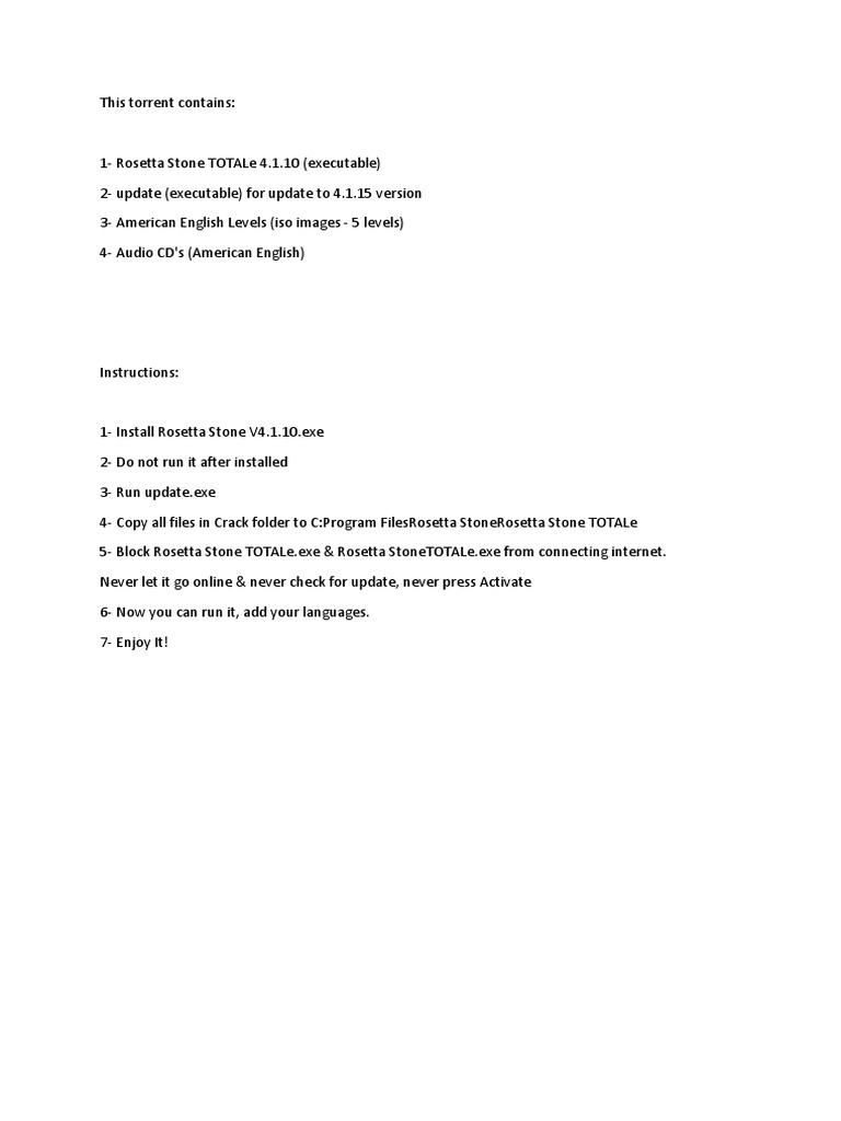 Rosetta Stone Uputstvo - DocShare tips