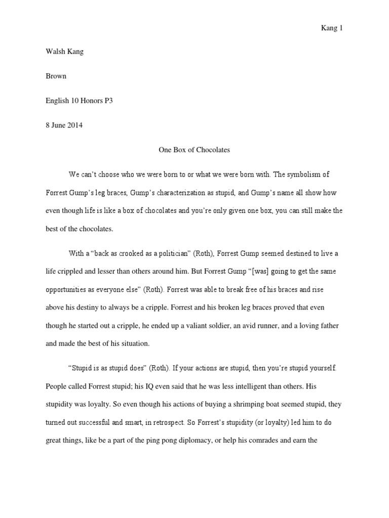 forrest gump essay   docsharetips