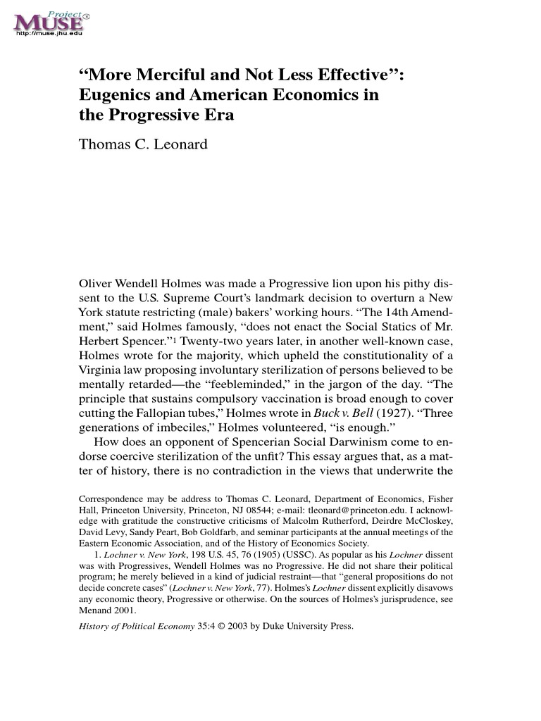"pro eugenics essay The nazi physicians as leaders in eugenics and ""euthanasia"": practitioners played in the pro- no 1 ajph grodin et al peer reviewed analytic essay 53."