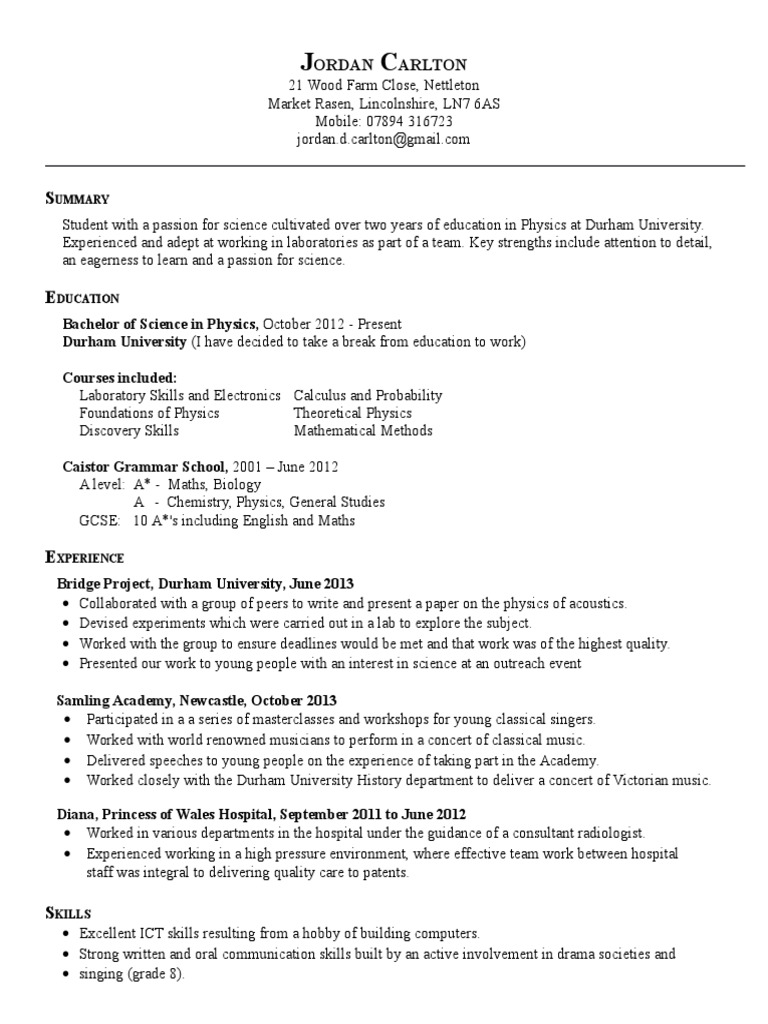 Chemist Resume Template - Youtuf.com
