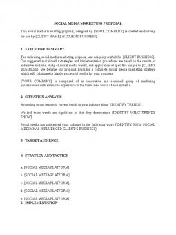 Social Media Marketing Proposal Template Search Results Docshare Tips