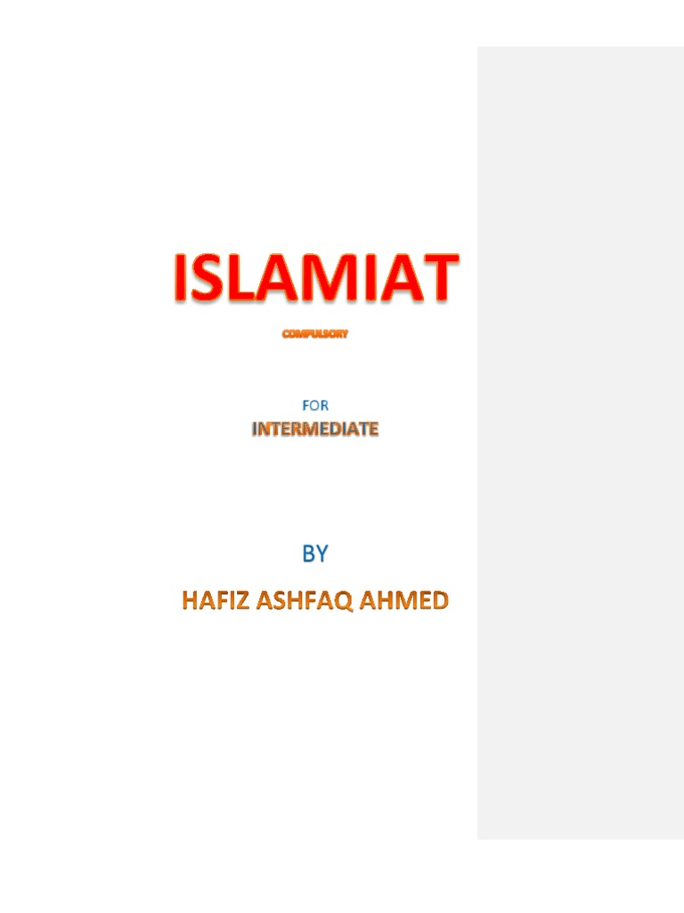Notes Islamiat compulsory for First year in English (Objective +