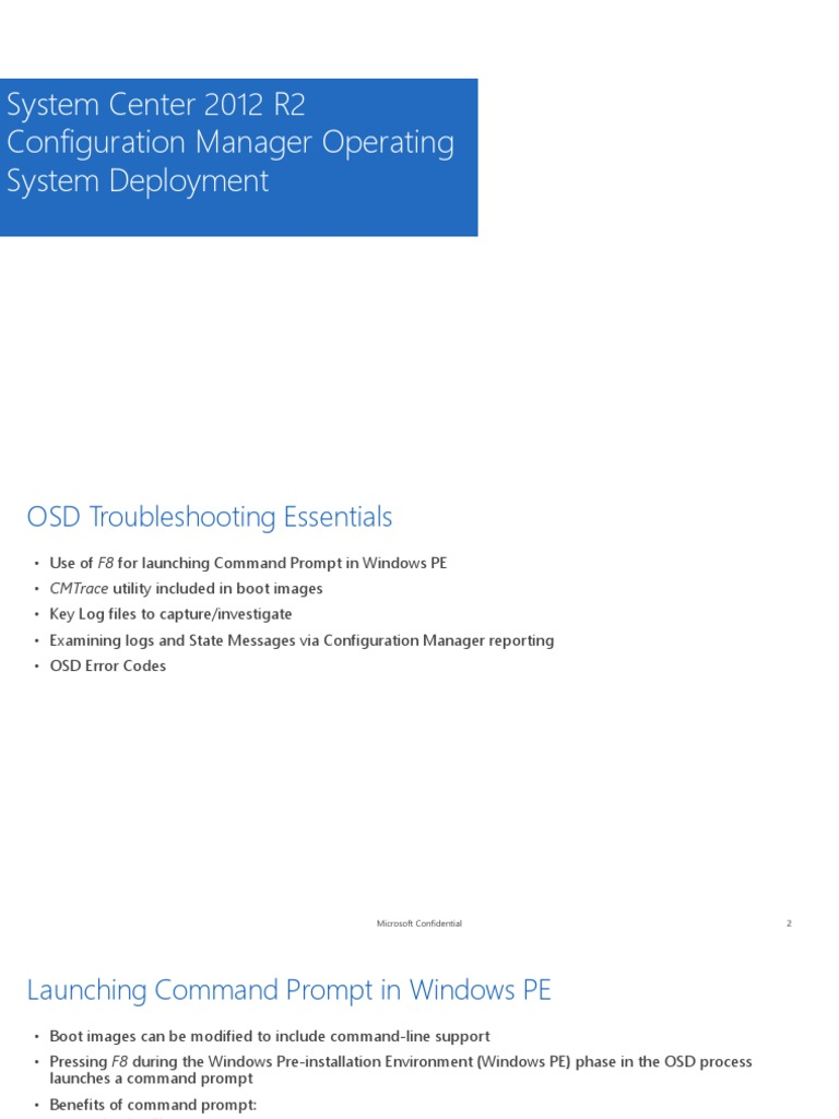 Troubleshooting OSD Configuration Manager - DocShare tips