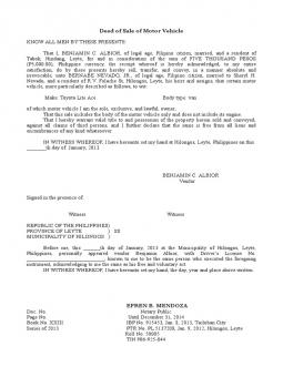 deed of extrajudical sample