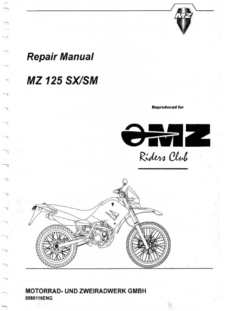 MZ 125 SM Repair Manual