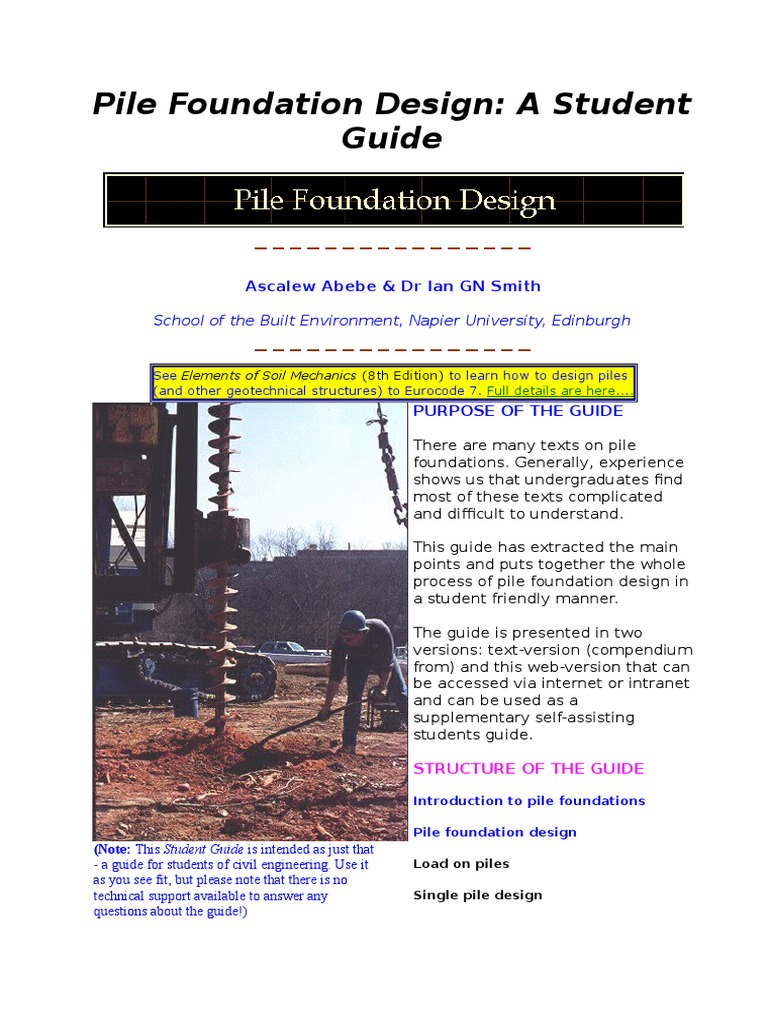 Pile Foundation Design -Smith - DocShare tips