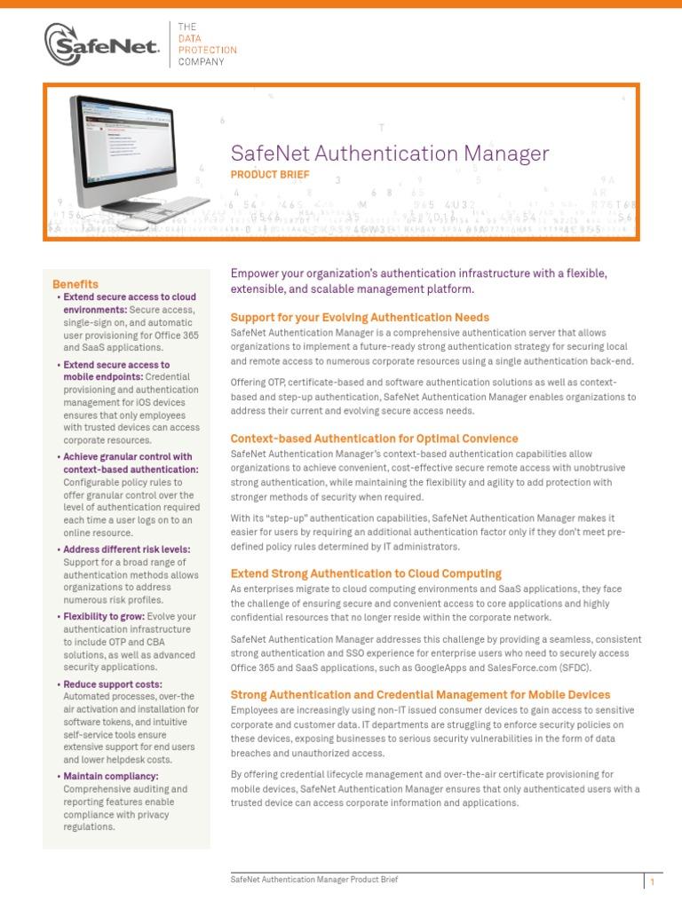 Download SafeNet Authentication Manager PB (en) v13 Jan312013 Web