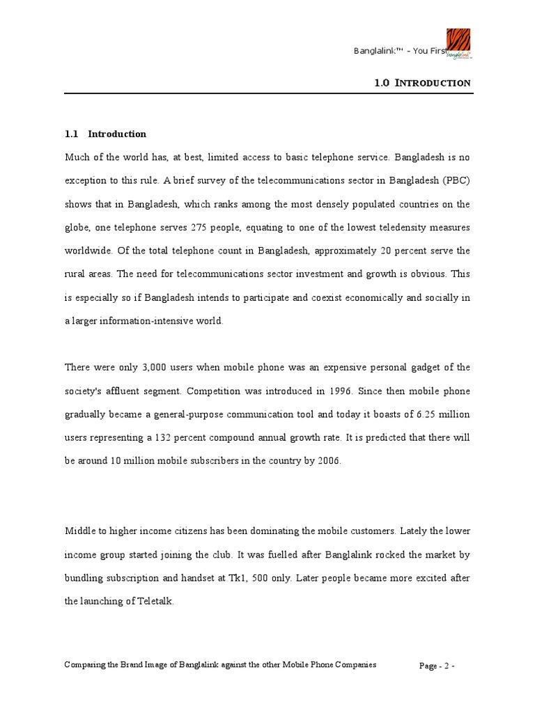 Banglalink internships report