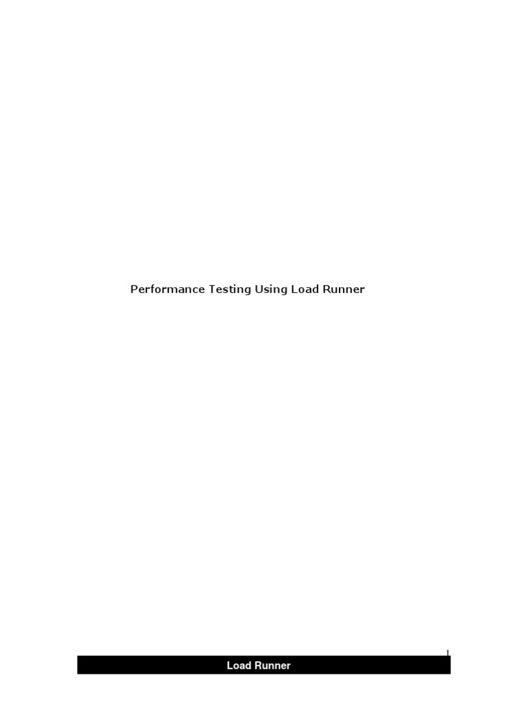 Performance Testing Using Load Runnerpdf Docshare How To Calculate Standard  Deviation In Loadrunner Solution For How