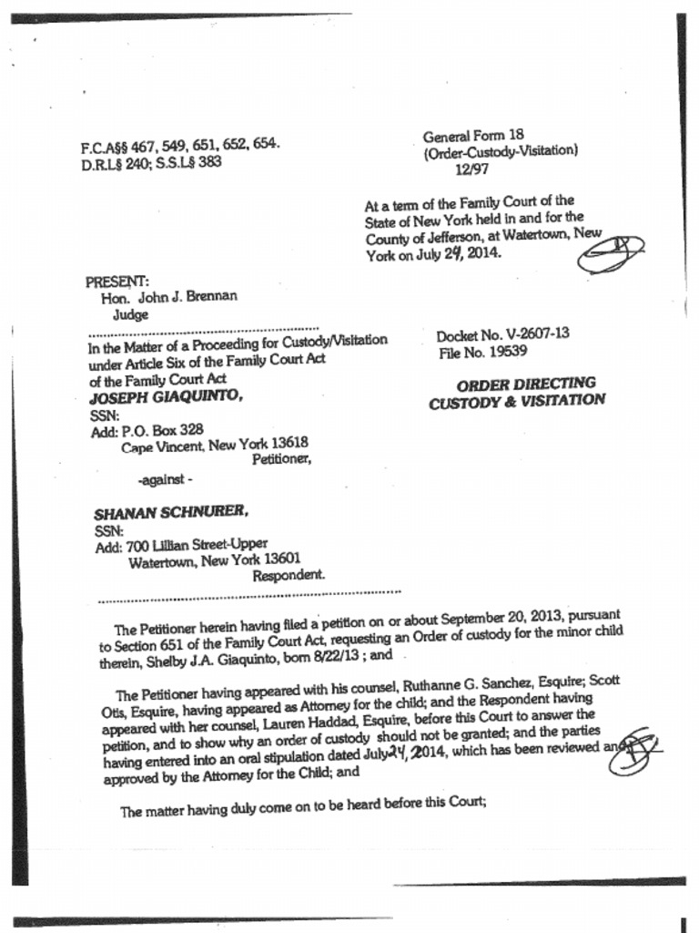 Jefferson County Family Court Contact Details