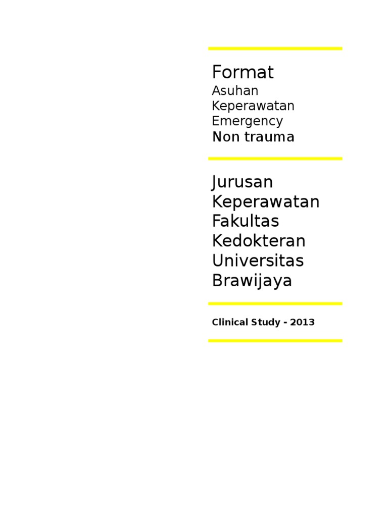 form pengkajian keperawatan emergency non trauma - Format Resume Keperawatan Doc