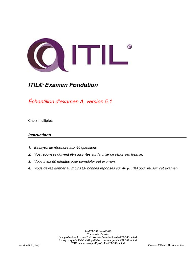 Itil V3 Foundation Exam Code Ex0 117 New The Best Code Of 2018