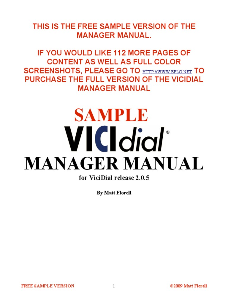 Download Manager Manual Vicidial - DocShare tips