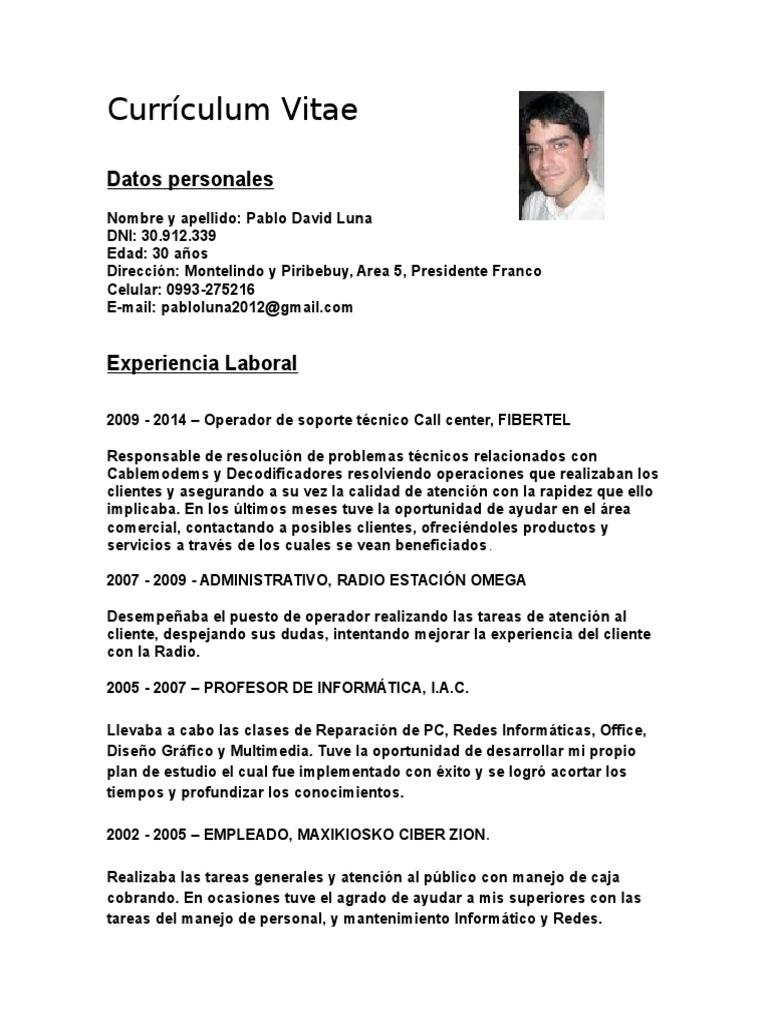 Moderno Currículum Técnico Viñeta - Colección De Plantillas De ...