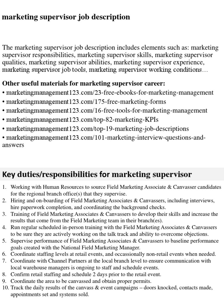 Resume CV Cover Letter assistant marketing manager job – Marketing Job Descriptions