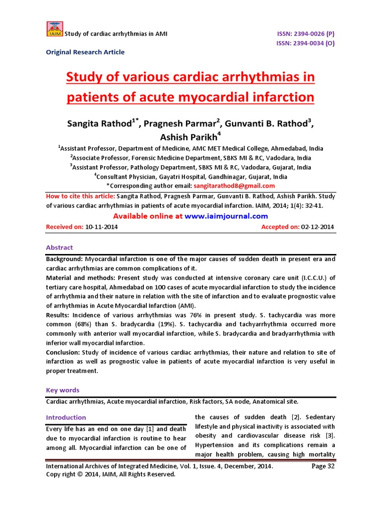a research on the effects of myocardial infarction on the lives of patients Cardiac rehabilitation effects on quality of life in patients after acute myocardial infarction  discover the world's research  effect of cardiac patients' perceived benefits from and.