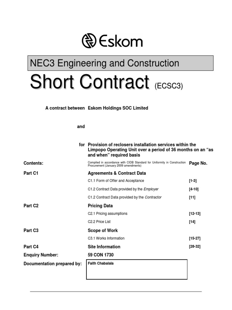 NEC Document for Recloser Services - DocShare tips