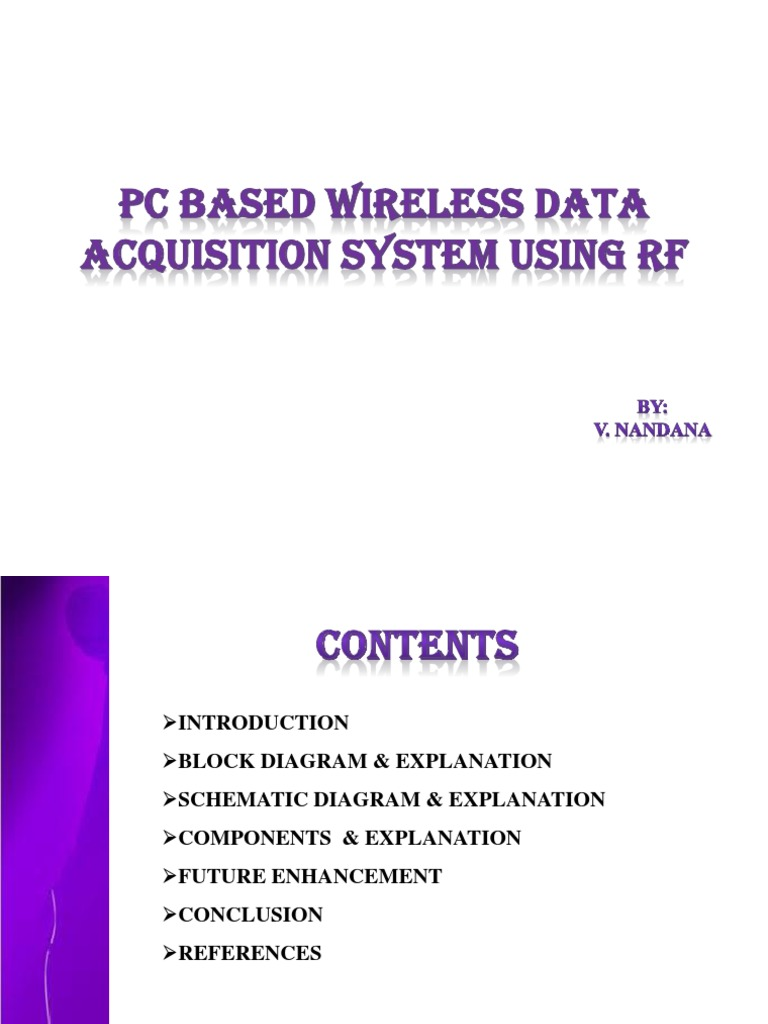 Pc Data Acquisition : Pc based wireless data acquisition system using rf