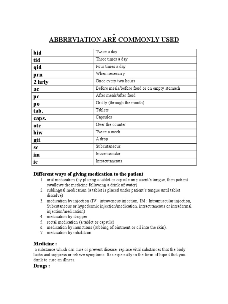 Abbreviation Are Commonly Used - DocShare tips
