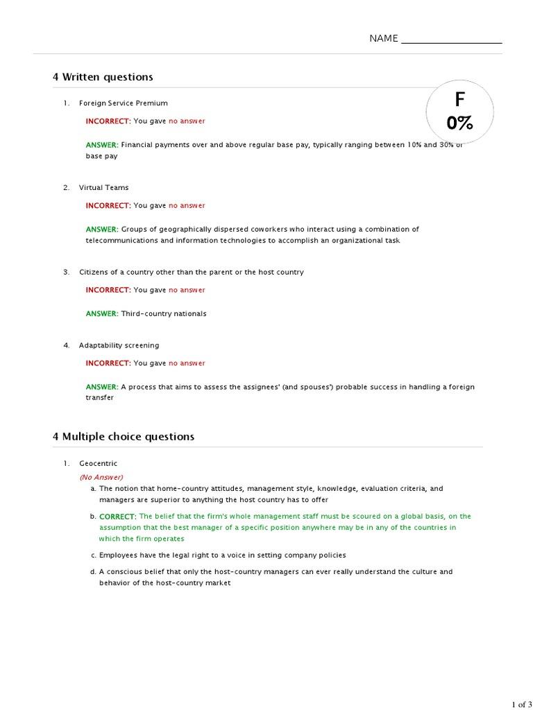 Test_ Dessler Human Resource Management Chapter 17 Managing