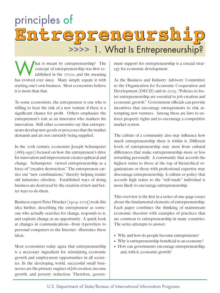 entrepreneurship is a force of creative destruction essay